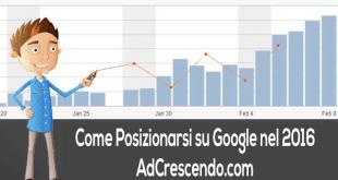 come posizionarsi su google nel 2016