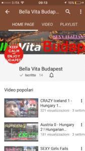 bella vita budapest canale youtube