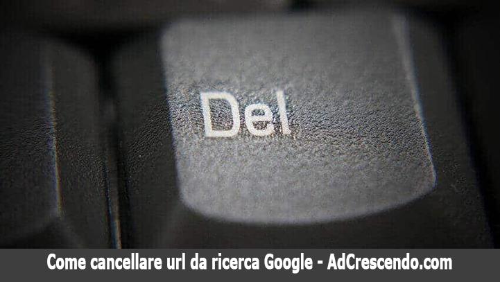 come cancellare url da ricerca google