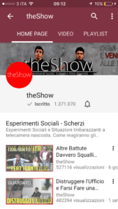 theshow canale youtube