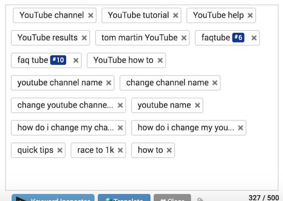 tag video youtube