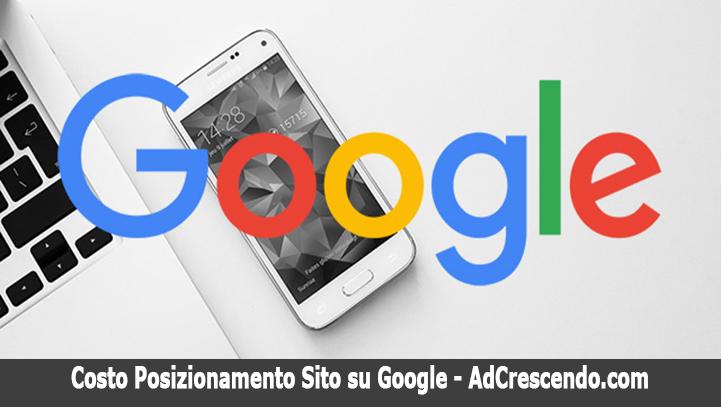 costo posizionamento sito su google