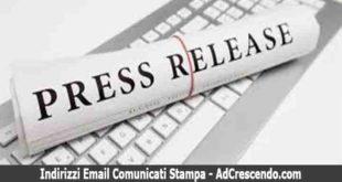 indirizzi email comunicati stampa