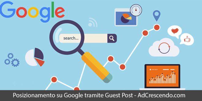 posizionamento su google tramite guest post